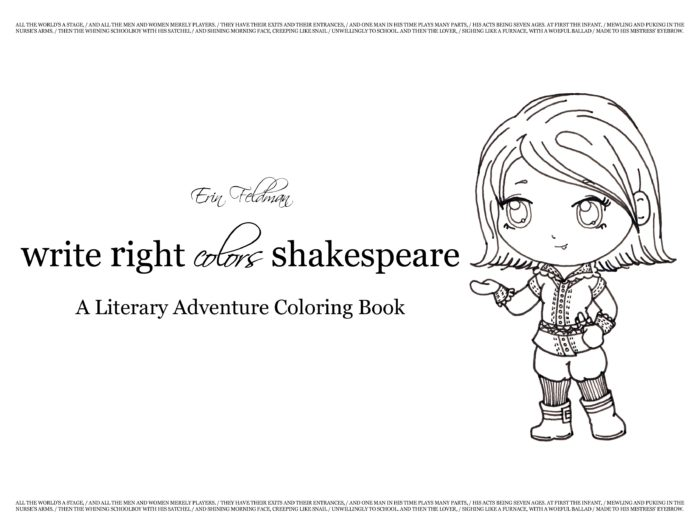 Write Right Colors Shakespeare Coloring Book